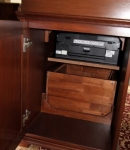 BPD-C Rear Access Secret Doors to Optional Printer Drawer & Extra Storage