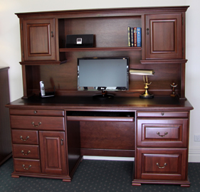 timber office desk. Bridgeton-desk-and-hutch Timber Office Desk